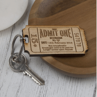 Personalised Ticket To My Heart Keyring - Personalised Gifts