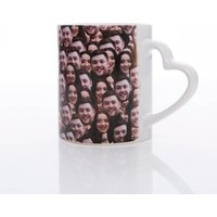 Personalised Multi Face Heart Handle Mug - Mug Gifts