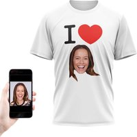 Personalised I Heart Photo T-Shirt - Personalised Gifts