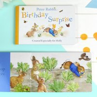 Personalised Peter Rabbit 'Birthday Surprise' Board Book - Book Gifts