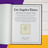 Personalised LA Times Newspaper Book: A Kobe Bryant Tribute - Book Gifts