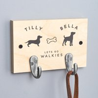 Personalised Double Dog Lead Hook - Personalised Gifts