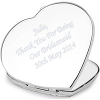 Personalised Diamante Heart Compact Mirror - Prezzybox Gifts