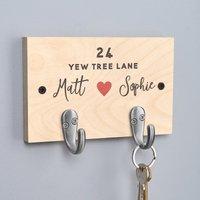 Personalised Couples Key Hooks - Personalised Gifts