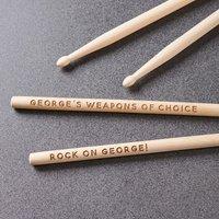 Personalised Drum Sticks - Personalised Gifts