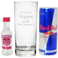 Personalised Vodka & Red Bull Gift Set - Vodka Gifts