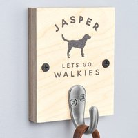 Personalised Single Dog Lead Hook - Personalised Gifts