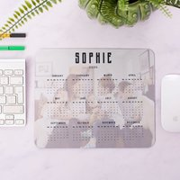 Personalised Photo Calendar Mouse Mat - Personalised Gifts
