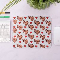Personalised Couples Heart Mouse Mat - Personalised Gifts