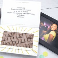Personalised Chocolate Memory Message - Personalised Gifts