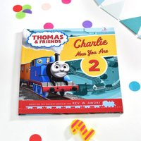 Personalised Thomas the Tank Engine Birthday Book