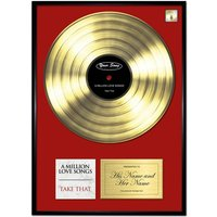 Personalised 'Your Song' Poster Gold - Prezzybox Gifts