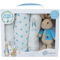 Peter Rabbit Soft Toy & Muslin Gift Set