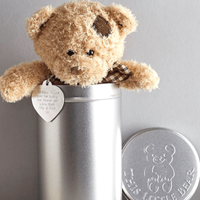 Personalised Teddy Bear in a Gift Tin - Prezzybox Gifts