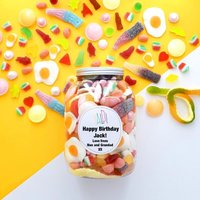 Personalised Greedy Guys Sweets Jar - Personalised Gifts Gifts