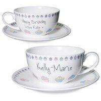 Personalised Cupcake Tea Cup & Saucer - Cupcake Gifts