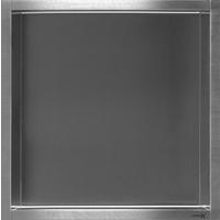 LoooX BoX inbouwnis vierkant 30x30x7cm RVS geborsteld BOX 30