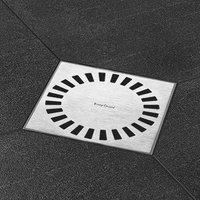 EASYDRAIN AQUA BRILLANT vloerput abs 15 x 15 cm.zij-en onderuitloop RVS GEBORSTELD (AQUAB15X15)