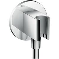 HANSGROHE FIXFIT Chroom porter s handdouchehouder met muuraansluitbocht 26487000