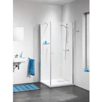 Sealskin Get Wet C105 douchecabine deur met zijwand 100x100x195cm chroom profiel en helder glas