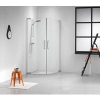 Douchecabine Get Wet by Sealskin Impact 100x100cm 1-4 rond Swingdeuren Chroom-zilver Helder glas
