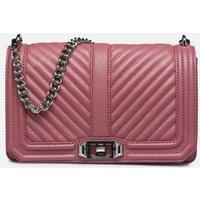 Rebecca Minkoff - Chevron Quilted Love Crossbody - Handtaschen / rosa