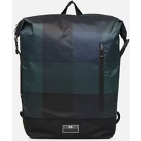 SALE -50 PS Paul Smith - MEN BAG ZIP BKPK CHECK NYL - SALE Rucksäcke / blau
