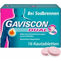 Gaviscon® Dual 250 mg / 106,5 mg / 187,5 mg Kautabletten bei Sodbrennen & Magendruck