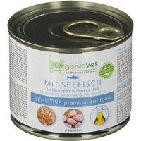 OrganicVet Katze Sensitive Seefisch mit Vollkornreis & Omega-3 + 6