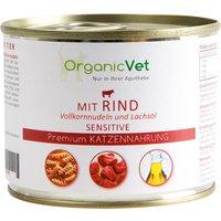 OrganicVet Katze Sensitive Rind mit Vollkornnudeln und Lachsöl