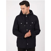 Coats / Jackets Giordiano Hooded Wool Blend Coat with Pockets In Navy - Tokyo Laundry / XXL - Tokyo Laundry