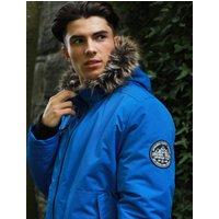Coats / Jackets Kennett Taslon Short Parka Coat With Borg Lined Hood In Olympian Blue - Tokyo Laundry / XL - Tokyo Laundry