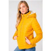 Coats / Jackets Geri Borg Lined Quilted Puffer Coat with Hood In Old Gold - Tokyo Laundry / 10 - Tokyo Laundry