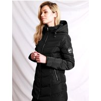 Coats / Jackets Safflower 2 Longline Quilted Puffer Coat with Hood In Black - Tokyo Laundry / 12 - Tokyo Laundry