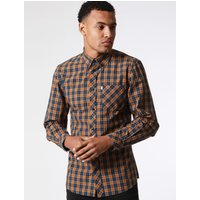 Shirts Mellor Checked Cotton Shirt with Chest Pocket In Cathay Spice Brown – Le Shark / S - Tokyo Laundry