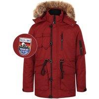 Coats / Jackets Helga Heavy Utility Parka Coat with Faux Fur Trim Hood in Cherry Red - Tokyo Laundry / XXL - Tokyo Laundry