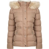 Coats / Jackets Pisa Quilted Puffer Jacket With Faux Fur Hood In Ginger Snap - Tokyo Laundry / 14 - Tokyo Laundry