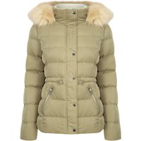 Coats / Jackets Pisa Quilted Puffer Jacket With Faux Fur Hood In Mermaid Khaki - Tokyo Laundry / 12 - Tokyo Laundry
