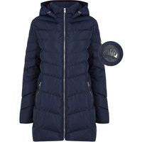 Coats / Jackets Safflower 2 Longline Quilted Puffer Coat with Hood In Peacoat - Tokyo Laundry / 12 - Tokyo Laundry