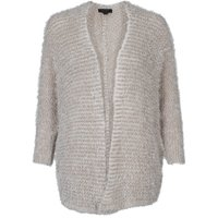 Cardigans Womens Striped Loose Fit Cardigan in Smoke Beige / 14 - Tokyo Laundry