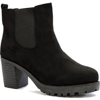 Shoes Gabi black suede high heeled Chelsea boots / UK 7 - Tokyo Laundry