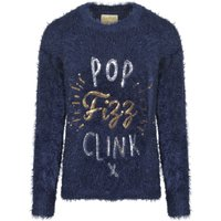 Jumpers Womens Lx Fizz Slogan Fluffy Knit Jumper in Dress Blues – Christmas Wishes / S - Tokyo Laundry