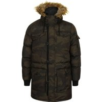 Coats / Jackets Canton Quilted Puffer Coat With Fur Trim Hood In Khaki Camo - Dissident / M - Tokyo Laundry