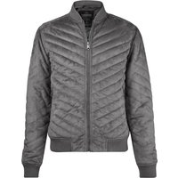Coats / Jackets Myers Quilted Suede Bomber Jacket in Grey / L - Tokyo Laundry