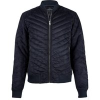Coats / Jackets Myers Quilted Suede Bomber Jacket in Navy / L - Tokyo Laundry