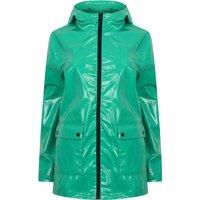 Coats / Jackets Shine Patent Hooded Rain Coat In Parakeet Green - Tokyo Laundry / 10 - Tokyo Laundry
