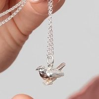 Personalised Silver Robin Necklace - Lily Charmed Gifts