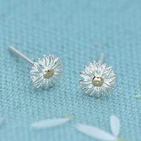 Silver Daisy Stud Earrings - Lily Charmed Gifts