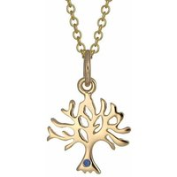 Personalised 9 Carat Gold And Sapphire Tree Necklace