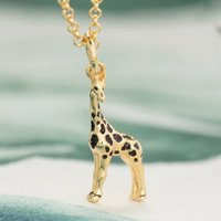Personalised Gold Plated Giraffe Necklace